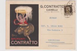 Spumanti Contratto, Canelli, Pubblicitaria, Illustrata Da Leonetto Cappiello - F.G. - Anni '1930 - Pubblicitari