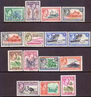 BRITISH SOLOMON ISLANDS 1939-51 SG #61-72 Compl.set Used Incl. Perf Vars For 2d And 3d CV £54 - British Solomon Islands (...-1978)