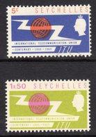 SEYCHELLES - 1965 ITU STAMPS (2V) FINE MNH ** SG 218-219 - Seychelles (...-1976)
