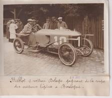 BABLOT S VOITURE DELAGE GAGNANT COUPE DES VOITURES LEGERES A BOULOGNE  18*13CM Maurice-Louis BRANGER PARÍS (1874-1950) - Automobiles