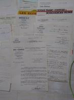 Lot 130 Factures(600g) 1936-37 Commerces Bouches Et Autres, F-Comté, Paris, M.et Moselle, Des Multiples - 1900 – 1949