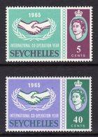 SEYCHELLES - 1965 ICY STAMPS (2V) FINE MNH ** SG 220-221 - Seychelles (...-1976)