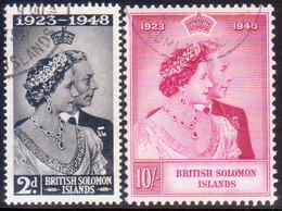 BRITISH SOLOMON ISLANDS 1949 SG #75-76 Compl.set Used Royal Silver Wedding - British Solomon Islands (...-1978)