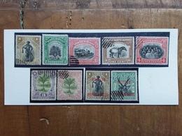 EX COLONIE INGLESI 1915/20 - BORNEO DEL NORD - Lotticino 9 Francobolli Timbrati (2 Valori Denti Scarsi) + Spese Postali - Borneo Del Nord (...-1963)