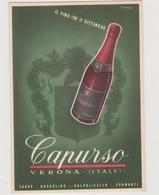 Vini Spumanti Nunzio Capurso, Verona, Pubblicitaria, Illustrata Da Ruzzenente - F.G. - Anni '1960 - Pubblicitari