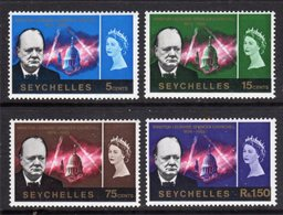 SEYCHELLES - 1966 CHURCHILL COMMEMORATION SET (4V) FINE MNH ** SG 222-225 - Seychelles (...-1976)