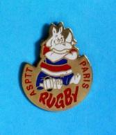 1 PIN'S //  ** ASPTT RUGBY / PARIS ** - Rugby