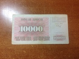 Bosnia And Herzegovina 10000 Dinars 1993 - Bosnia Y Herzegovina