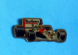 1 PIN'S //  ** McLAREN MP 45 HONDA N°1 / AYRTON SENNA /1989 / MARLBORO \ SHELL ** - F1