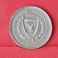 CYPRUS 25 MILS 1968 -    KM# 40 - (Nº30281) - Cyprus