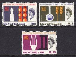 SEYCHELLES - 1966 UNESCO SET (3V) FINE MNH ** SG 230-232 - Seychelles (...-1976)