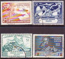 BRITISH SOLOMON ISLANDS 1949 SG #77-80 Compl.set Used UPU - British Solomon Islands (...-1978)