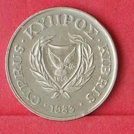 CYPRUS 20 CENTS 1983 -    KM# 57,1 - (Nº30289) - Cyprus