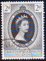 BRITISH SOLOMON ISLANDS 1953 SG #81 2d Used Coronation - Salomonseilanden (...-1978)