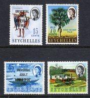 SEYCHELLES - 1967 UNIVERSAL ADULT SUFFRAGE SET (4V) FINE MNH ** SG 238-241 - Seychelles (...-1976)