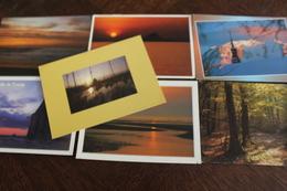 Petit Lot De 9 CPM écrites Ou Non Sur Les Levers Ou Couchers De Soleil - Postcards