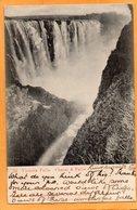 Victoria Falls Zimbabwe 1905 Postcard Mailed - Zimbabwe