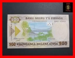 RWANDA 500 FRANCS 1.2.2019 P. NEW UNC - Rwanda