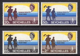 SEYCHELLES - 1968 HUMAN RIGHTS YEAR SET (4V) FINE MNH ** SG 249-252 - Seychelles (...-1976)