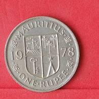 MAURITIUS 1 RUPEE 1978 -    KM# 35,1 - (Nº30304) - Mauritius