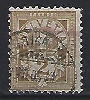 Switzerland 1882 Arms  Mi.50 - 1882-1906 Coat Of Arms, Standing Helvetia & UPU