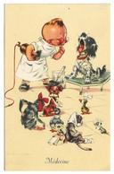CPA FANTAISIE MEDECINE / ENFANT VETERINAIRE - CHIENS - CHATS - OISEAUX - SOURIS MALADES - Fantasia