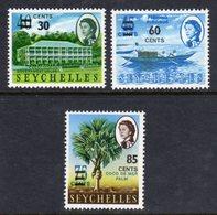 SEYCHELLES - 1968 SURCHARCHED VALUES SET (3V) FINE MNH ** SG 246-248 - Seychelles (...-1976)