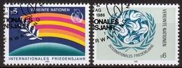 UNO Wien MiNr. 62/63 O Internationales Jahr Des Friedens - Sonstige - Europa