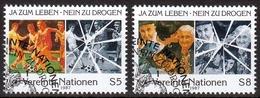 UNO Wien MiNr. 71/72 O Kampf Gegen Drogenmissbrauch - Sonstige - Europa