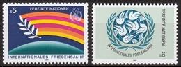 UNO Wien MiNr. 62/63 ** Internationales Jahr Des Friedens - Sonstige - Europa