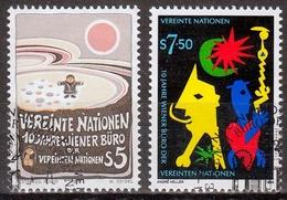 UNO Wien MiNr. 94/95 O 10 Jahre Wiener Büro Der Vereinten Nationen - Sonstige - Europa