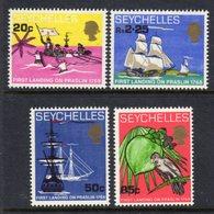 SEYCHELLES - 1968 ISLAND LANDING ANNIVERSARY SET (4V) FINE MNH ** SG 253-256 - Seychelles (...-1976)