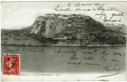 CPA Marseille (13). L'île De Ratonneau. 1909 - Endoume, Roucas, Corniche, Stranden