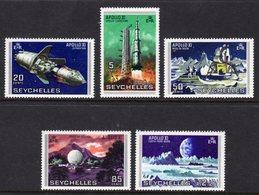 SEYCHELLES - 1969 MOON LANDING SET (5V) FINE MNH ** SG 257-261 - Seychelles (...-1976)
