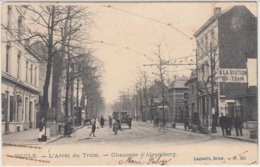 28552g  ARRET DU TRAM - CHAUSSEE D'ALSEMBERG -  Uccle - Animée - Ukkel - Uccle