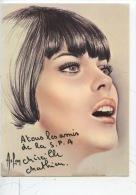 Mireille Mathieu - A Tous Les Amis De La SPA - S. P. A. (illustrateurs) Autographe - Entertainers