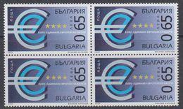 Bulgaria 2002 Euro 1v Bl Of 4 ** Mnh (44192A) - Europese Gedachte