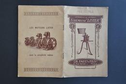 VIEILLE PUBLICITE APPAREILS DE LAITERIE LISTER - CH FAUL 75000 PARIS - Publicités