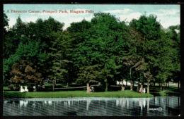 Ref 1319 - Early USA Postcard - A Favourite Corner Prospect Park - Niagara Falls - New York - NY - New York