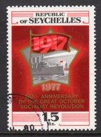 SEYCHELLES - 1977 OCTOBER REVOLUTION ANNIVERSARY STAMP FINE USED CTO SG 402 - Seychelles (1976-...)