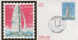 FDC MONACO   SPORTS VOILE CATAMARAN     N° YVERT ET TELLIER  1488 1985 - FDC