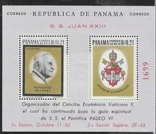 PANAMA - 1964  - PAPA GIOVANNI XXIII - FOGLIETTO NUOVO **NH (MICHEL BL 27) - Cristianesimo