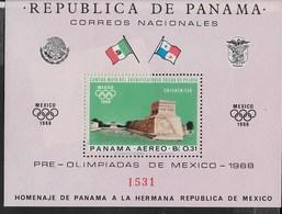 PANAMA - 1968  - PREOLIMPICA MESSICO '68 - FOGLIETTO NUOVO **NH (MICHEL BL 68) - Estate 1968: Messico