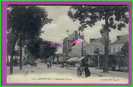 CPA 61 Orne ARGENTAN - 1213. Avenue Boulevard Carnot - Très Animé Dans La Rue Commercante  - - Argentan