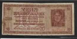 Ukraine - 10 Karbowanez - Pick N°52 - B/TB - Ukraine
