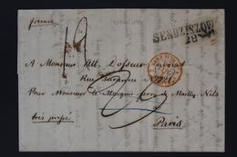 Poland Letter SENDZISZOW / SEDZISZOW KRAKAU  1858 To Pars - Poland