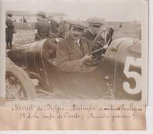 CIRCUIT DE DIEPPE MEDINGER S VOITURE SUNBEAM 3E DE LA COUPE DE L'AUTO   18*13CM Maurice-Louis BRANGER PARÍS (1874-1950) - Automobiles