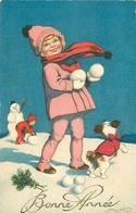 WW Lot 5 Cpa FANTAISIES. Bonne Année, Noël, Femmes Hommes Enfants Couple, Fleurs Et Divers... - Fancy Cards