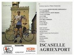 CARTE CYCLISME GIUSEPPE PETITO TEAM ALFA LUM 1984 - Ciclismo
