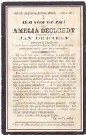 Devotie - Doodsprentje Overlijden - Amelia Decloedt - Torhout 1938 - 1910 - Overlijden